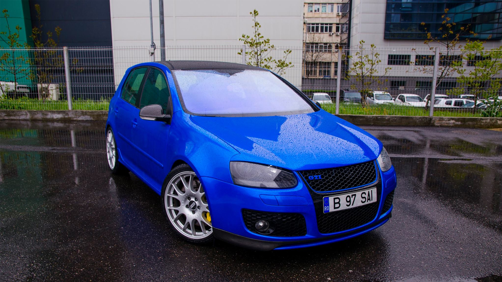 vw golf gti candy blue dcm design