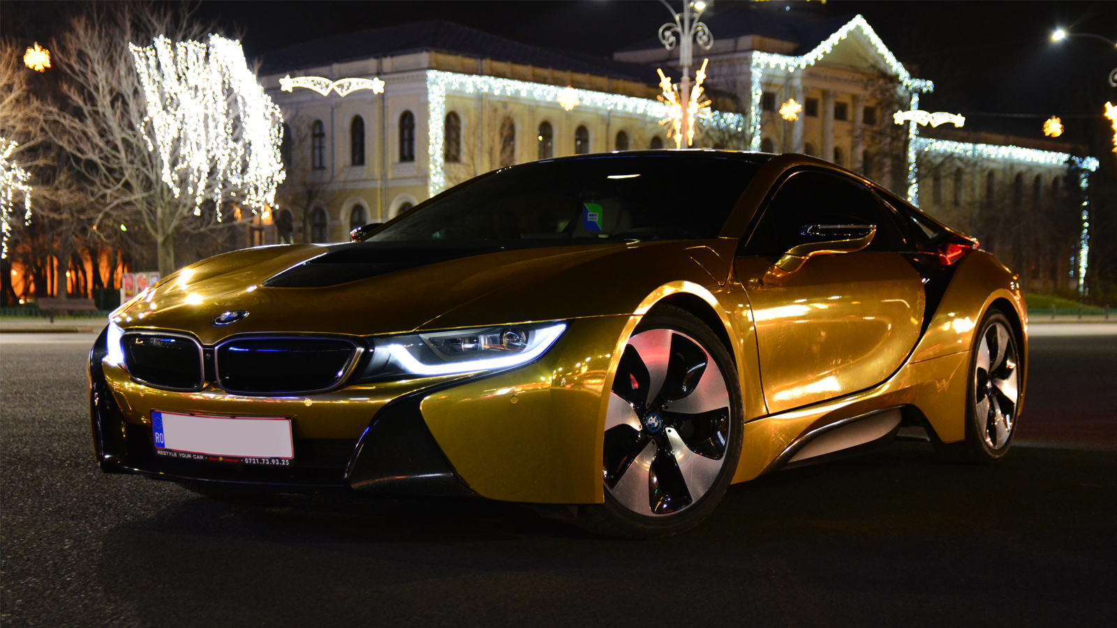 Golden Bmw I8 2016 Gold Bmw I8 Wrap It Up Lv Vik Chohan